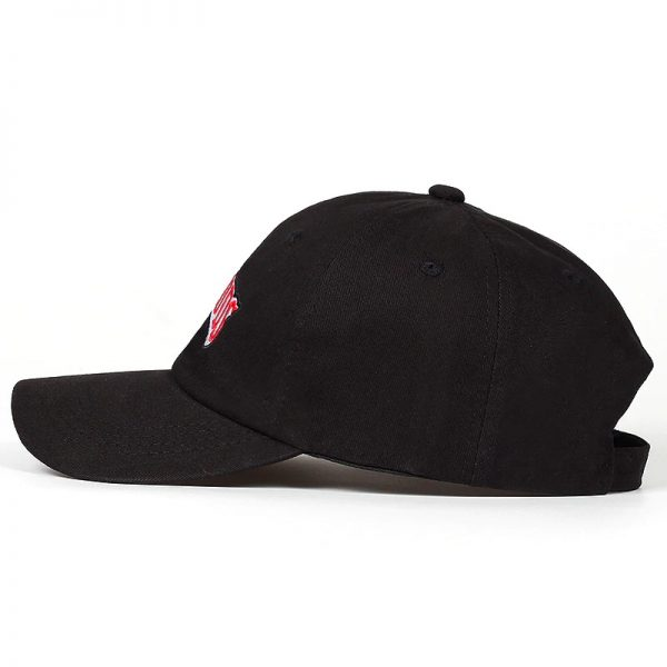 backwoods camo hat side view