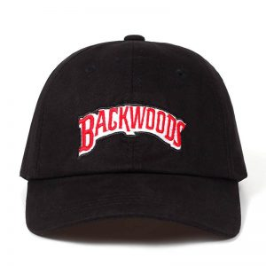 black backwoods dad hat